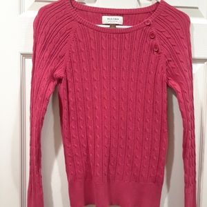 Sonoma red cable knit sweater